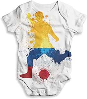 TWISTED ENVY Baby Bodysuits Football Soccer Silhouette Colombia