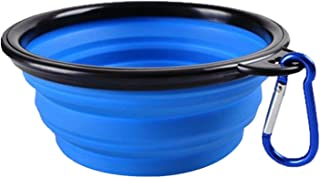 White Island Dog Silicone Bowl Foldable Portable Travel Bowl Dog Feeder for Small Mudium Dog Travelling Bowls Pet Accessories 1 Pc