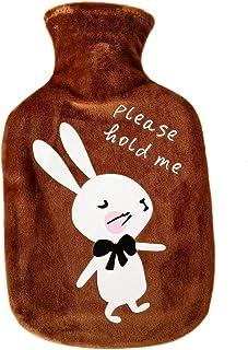 Dire-wolves Plush Bouteille deau Bouillotte Housse Bouteille deau Chaude Bouillotte Peluche Amovible et Lavable Ultra Doux Bouteille deau Chaude id/éal pour Soulager la Douleur Rapide et Le Confort