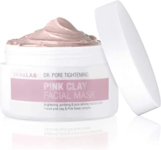 [SKIN&LAB] pink clay mask with pink clay from France, even and bright skin tone, calming, smoothing, moisturizing, caring pore, Calamin, pink flower complex, 100g, 3.5oz