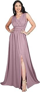 KOH KOH Womens Long Sleeveless Bridesmaid Cocktail Evening Maxi Dress
