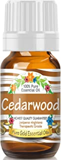 Pure Gold Cedarwood Essential Oil, 100% Natural & Undiluted, 10ml