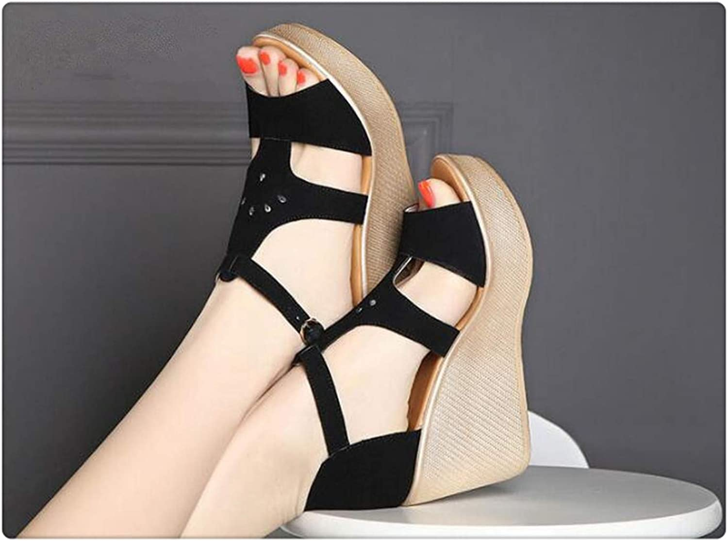 AAKOPE& Large Size Women shoes SummerHigh Heels Basic Sandal Open Toes Platform women