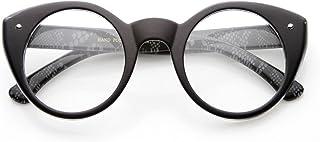 Round Cat Eye Clear Fashion Frame Glasses
