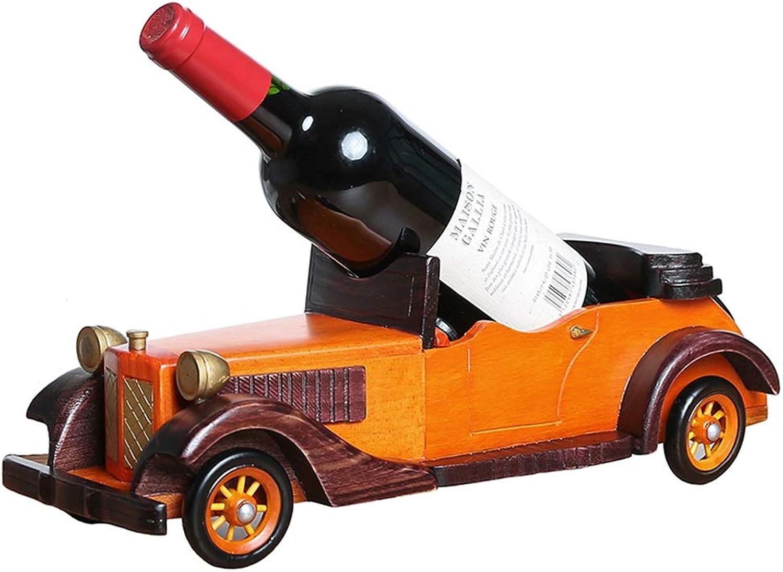 European Classic Car Creative Solid Wood Wine Rack Decoration Living Room Wine Bottle Rack Wine Rack with Red Wine Shelf