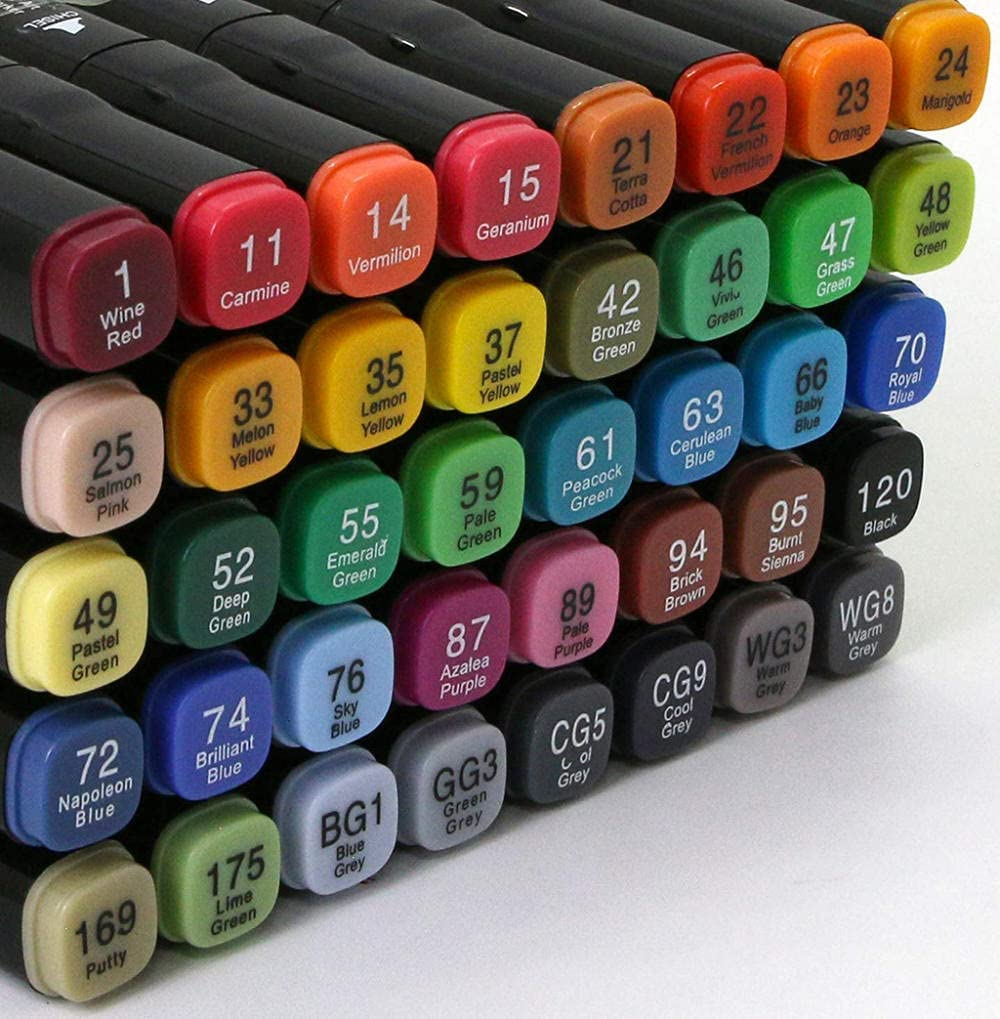 Paint Brush Double-tip Ranking TOP11 Art Markers Permanent 80 in Finally resale start Alco Colors