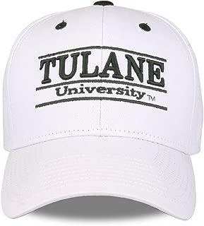 Tulane Green Wave Adult Game Bar Adjustable Hat - White,