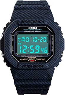 Mens Digital Watch Shock Outdoor Sports Watches for Men LED Electronic Military Stopwatch 50M...