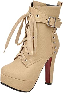 MisaKinsa Women Fashion Stiletto Heels Dress Boots