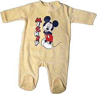 Disney Micky Maus Pyjama/Schlafanzug/Strampler - Mickey! - Gelb