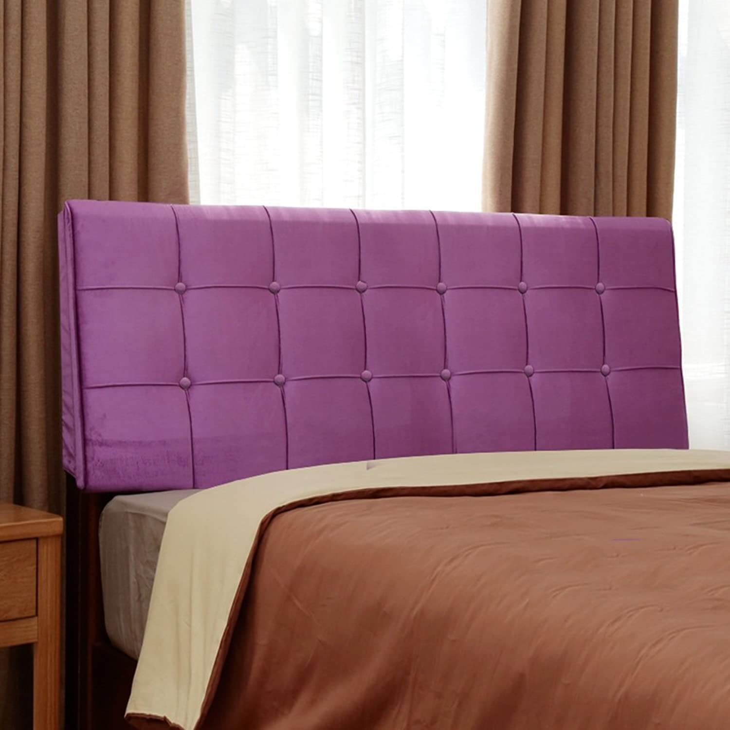 WENZHE Upholstered Fabric Headboard Bedside Cushion Pads Cover Bed Wedges Backrest Waist Pad Soft Case Bedside Large Back Washable, Cloth, There Is Headboard   No Headboard, 5 colors, 7 Sizes ( color   3  , Size   No headboard-120cm )