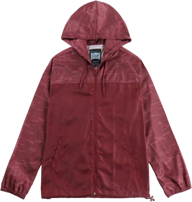 Men's Drawsing Windbreaker Silm fit long sleeve Lightweight Street Fashion Trenchcoat