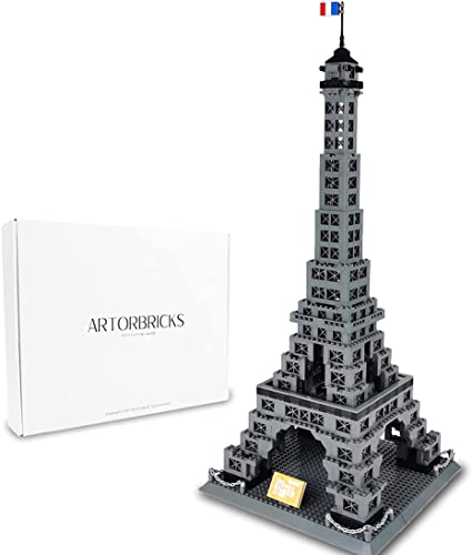 discount ArtorBricks Architectural wholesale Eiffel Tower Large new arrival Collection Building Set Model Kit and Gift for Kids and Adults , Compatible with Lego (976 Pieces) outlet online sale