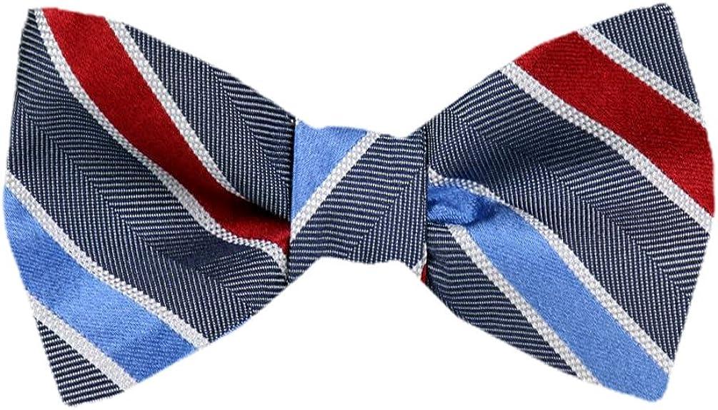 FBTZ-1518 - Men's Silk Self Tie Bowtie Tie Yourself Bow Ties