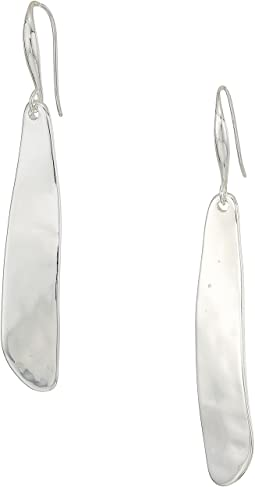 Robert Lee Morris Silver Textured Stick Earrings
