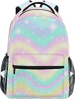 NIKIVIVI Student Backpack Vanilla Sky Waves Sundogs Morning Pastel Big for Girls Boys Elementary School Shoulder Bag Bookbag