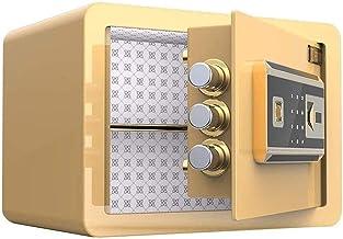 LLRYN Electronic Security Safe Box,Safes Mini Small Office Anti-Theft Electronic Fingerprint Password Security Beautiful B...