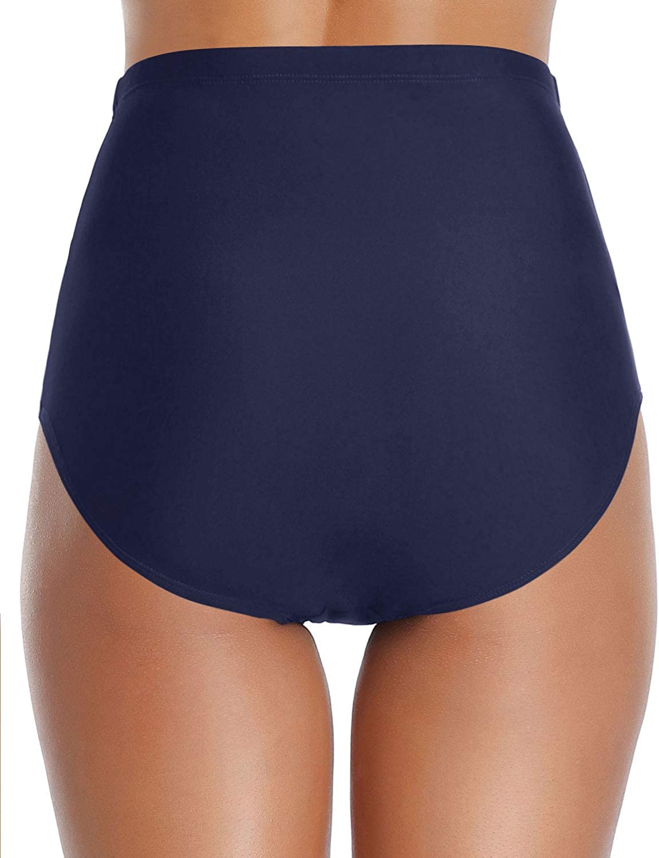 Tempt Me Women Retro High Waisted Bikini Bottoms Tummy Control Swimsuit Bottoms