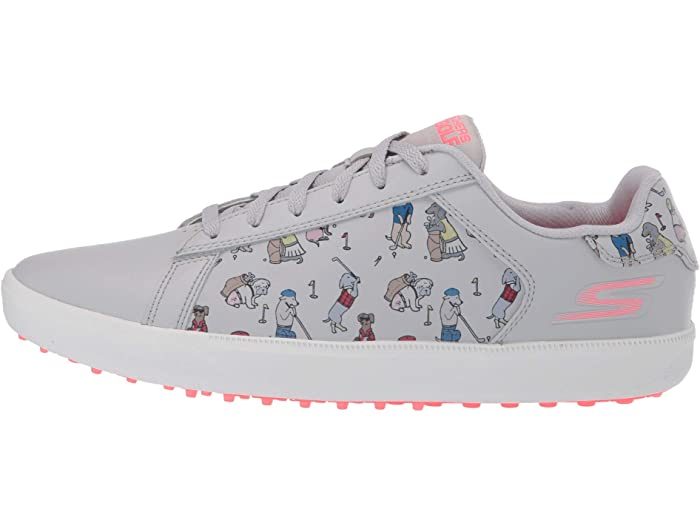 Skechers Go Golf Drive - Dogs At Play Gray/pink Sneakers & Athletic Shoes