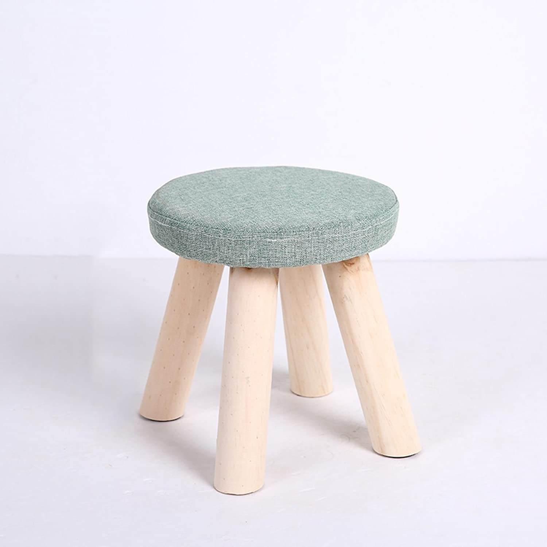 GAIXIA-Sofa stool Small Stool Solid Wood Small Chair Fashion shoes Stool Adult Sofa Stool Creative Small Stool 28x30cm (color   C)