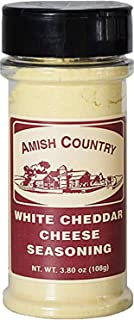 Amish Country Popcorn - White Cheddar Cheese (3.8 Ounce) Popcorn Seasoning with Recipe Guide - Nut Free