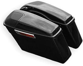 "$284 » Sponsored Ad - Green-L Vivid Black Saddlebag with 5 x 7"" Speaker Grill Fit For Harley Touring Models Road King Street Elec..."