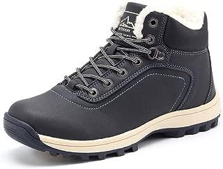 YIRUIYA Mens Snow Boots Waterproof Winter Full Fur Lined Warm Boots Wide Sneakers for Men