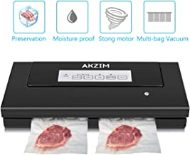 Food Vacuum Sealer Machine, Akzim Automatic Food Sealer with 10 Vacuum Sealer Bags,Cutter,Multi-use Vacuum Packing Machine for Sous Vide Cooking and Food Preservation(black)