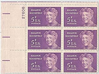 Stamp United States Scott 1236 Eleanor Roosevelt 5 cent Plate Block MNH