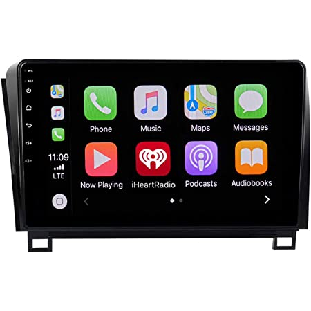 """ViaBecs 10.2"""" 1 Din Car Stereo Bluetooth 5.0 Carplay for Toyota Tundra 2007-2013 Sequoia 2008-2018 Touchscreen Radio for Car 4G/64G GPS Navigation WiFi DSP 15-Band EQ Microphone 1280x720P"""