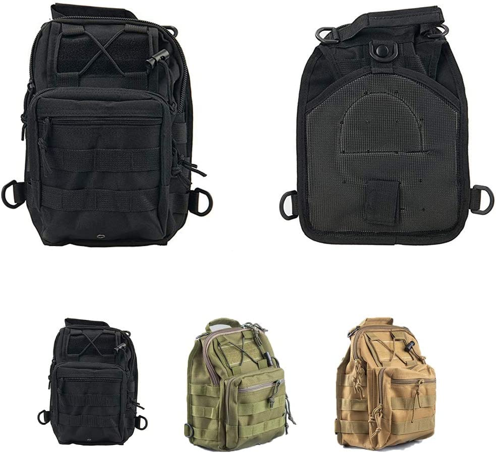 Trekking HAOMUK Tactical Sling Bag Hiking Rover Sling Bag Small Tactical Utility Chest Bag Military EDC Molle Backpack Everyday Out Carry Bag for Camping