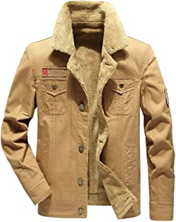 Men's Coat Plus Velvet Thick Tactical Retro Denim Jacket