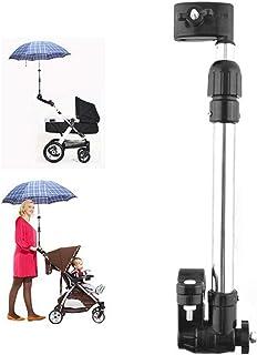 Soporte para sombrilla, Soporte Ajustable para Montaje en Paraguas de Acero Inoxidable, Silla de Ruedas, Bicicleta, Conector para Paraguas, Cochecito, Soporte para Paraguas