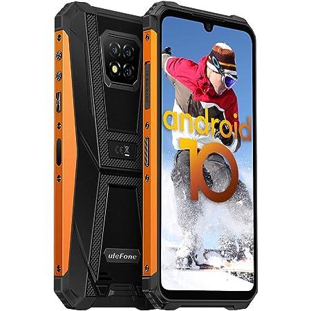 "Rugged Phones Unlocked, Ulefone Armor 8 4G LTE Dual SIM, Octa-core 4GB+64GB, 16MP Triple Camera, Android 10, 6.1"" HD+ IP68 IP69K Shockproof Dustproof, 5580mAh Battery, NFC, Fingerprint Face ID, Orange"