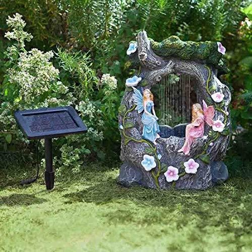 Smart Solar Elvedon Fairy Rainfall Garden Water Feature Fountain