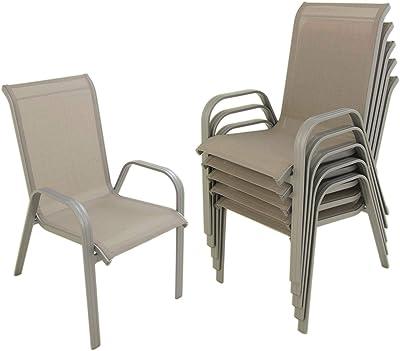 TecTake Juego de 2 Sillas de jardín sillón balcón terraza ...