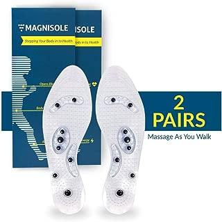 Magnisole – Magnetic Reflexology Insole – Acupressure Massage Inserts –..