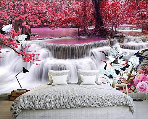 Wandtapete 3d Wasserfall Herbstlaub| Tapete | Wandbild | Wandbild | Bild | Fototapeten | Tapeten | Wandtapete | Wanddeko | Wandtapete | Abstrakt 3d-250cm×175cm