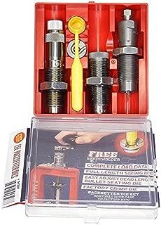 Lee 6.5 Grendel Very Ltd. Production 3-Die Set. Includes Full Length Sizing Die, Easy Adjsut Dead Length Bullet Seating Die, Factory Crimp Die, Universal Shell Holder