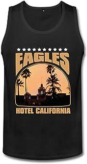男性 プライベートカスタム イーグルス The Eagles Hotel California ランニング シャツ 100%棉 Black