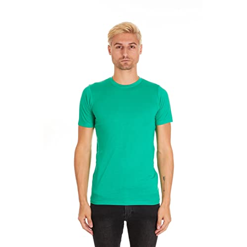 90ca69f9 Pacific Men's Fitted Soft Rayon Performance Short-Sleeve Crew-Neck T-Shirt