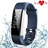 Kybeco Fitness Tracker, Elegant Waterproof Heart Rate Monitor Activity Tracker Bluetooth Wearable Wristband Wireless Step Counter Smart Bracelet Watch for Android and iOS Smartphones (Blue)
