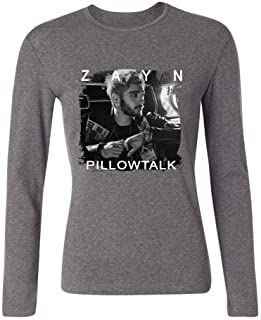 33dc4c01 IIKIOO Women's Pillowtalk Zayn English singer Long Sleeve T-shirt Grey S