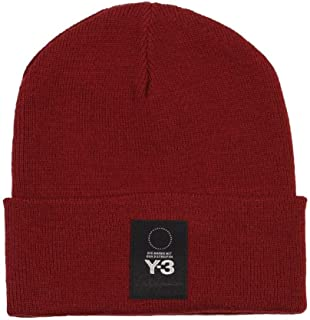 Y-3 Mens Logo Beanie in Red