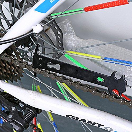 Tagvo 2-in-1-Bike Kette Werkzeug + Kette Checker, Universal Fahrrad Kette Repair Tool mit Kette Verschleißindikator Werkzeug - 5