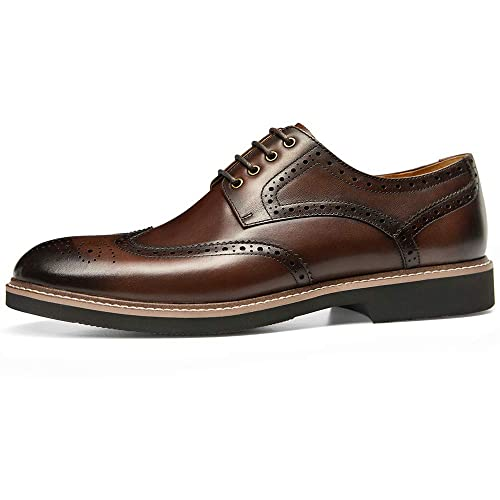GIFENNSE Mens Casual Dress Shoes Leather Oxford Shoe