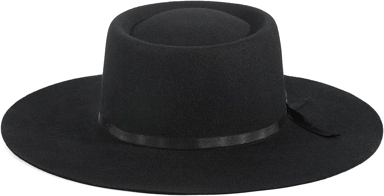 FEMSÉE Firm Nashville-Davidson Mall Wool Felt Hat Popular standard - Ribbon Wide for Fedora Women Hats
