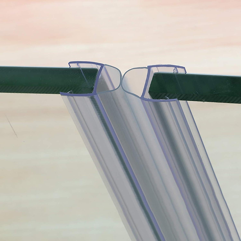 ZHTY Sello de Ducha Puerta de Cristal automática/Puerta corredera Izquierda y Derecha Tiras anticolisión Hueco de Sellado 8 mm Longitud 1m (2 Piezas)