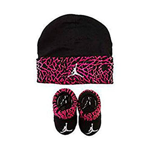 5fe88439294ae5 Jordan Infant Elephant Hat and Booties Set Fushia or Red 0-6 Months (black