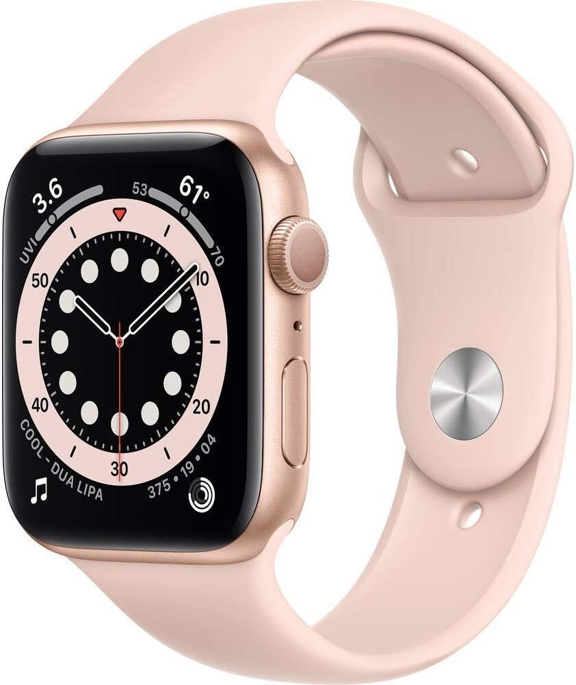 Apple Watch Series 6(GPS) 44mm Aluminum Case, Gold (Renewed)